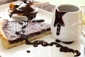 Tart Slice With Chocolate