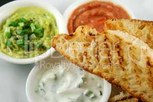 Turkish Bread And Dips 6