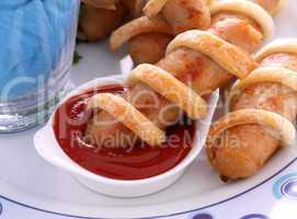 Twisted Pastry Sausages