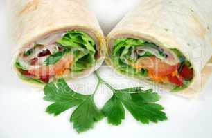 Ham And Salad Wrap 4