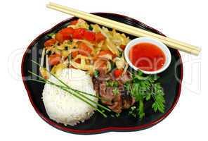 Lamb With Stir fry Vegetables 1