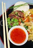 Lamb With Stir Fry Vegetables 2