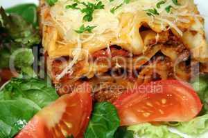 Lasanga And Salad 2