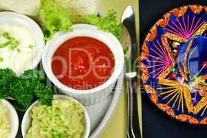 Mexican Vegetarian Platter