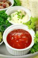 Tomato Salsa And Sour Cream