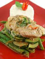Thai Green Poached Chicken 4
