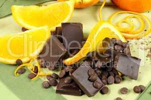 Chocolate Pieces And Orange