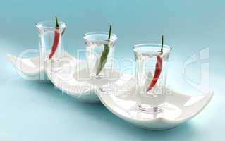 Chillies In Glasses