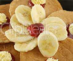 Sliced Banana With Jam