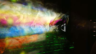 Smoke and laser rays