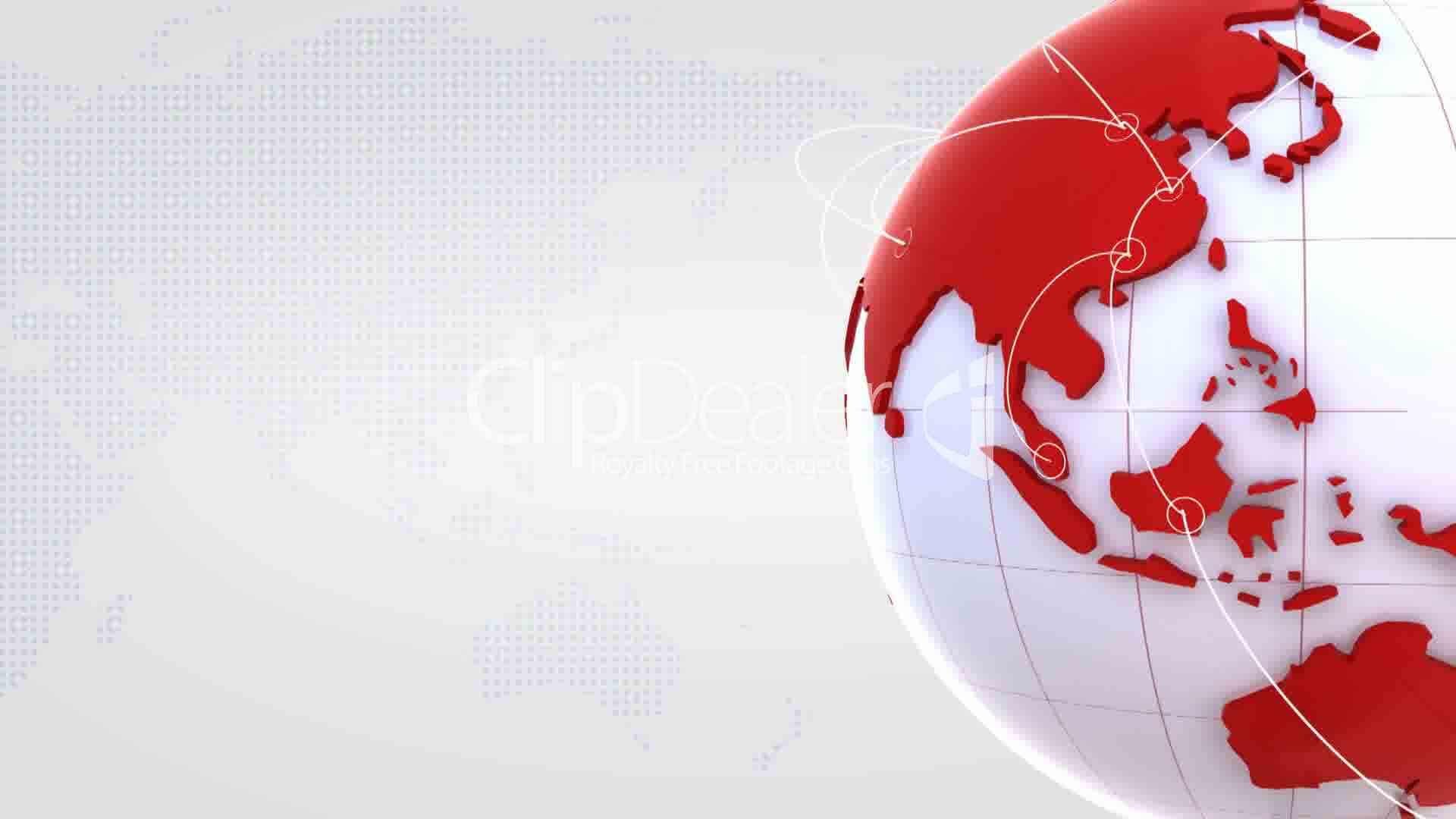 Turning globe with red continents on white background royalty clips turning globe with red continents on white background voltagebd Gallery