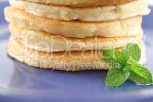 Pancake Stack With Garnish