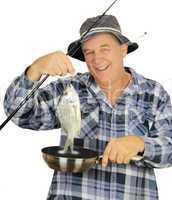 Fry Pan Fisherman