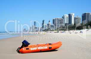 Surf Rescue Boat Surfers Paradise