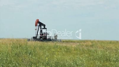Oil Derrick On Canadian Farm