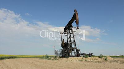 Oil Pump On Canadian Prairies