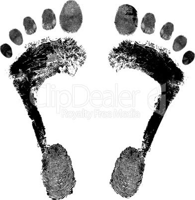 Footprint grunge icon