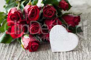 Rosen und Herz roses and heart