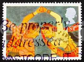 Postage stamp GB 1995 Girls Performing aKathal Dance