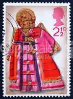 Postage stamp GB 1972 Angel with Trumpet, Christmas