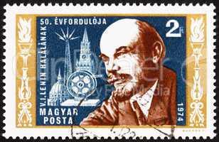 Postage stamp Hungary 1974 Vladimir Lenin, Revolutionary