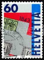Postage stamp Switzerland 1993 Postage Stamp Zurich Types A1 and