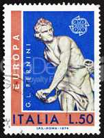 Postage stamp Italy 1974 David by Giovanni L. Bernini