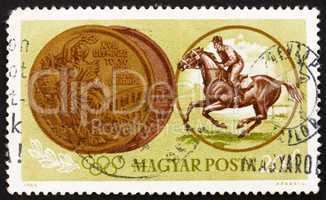 Postage stamp Hungary 1965 Equestrian, Olympic sports, Tokyo 64