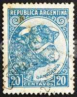 Postage stamp Argentina 1942 Bull, Cattle Breeding