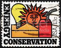Postage stamp USA 1977 Energy Conservation