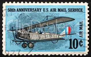Postage stamp USA 1968 Curtiss Jenny, Biplane