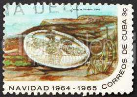 Postage stamp Cuba 1964 Jellyfish, Cassiopea Frondosa