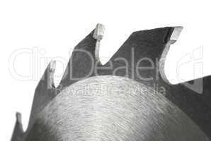 Isolated circular saw closeup