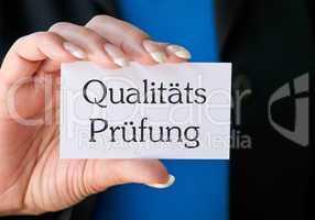 Qualitäts Prüfung