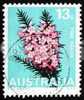 Postage stamp Australia 1968 Pink Heath, Victoria, State Flower