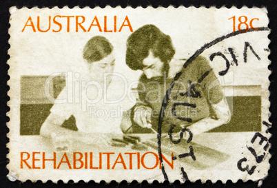 Postage stamp Australia 1972 Rehabilitation of the Handicapped