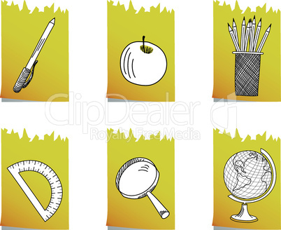 Set of  school icon