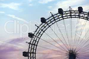 Famous and historic Ferris Wheel of prater park vienna