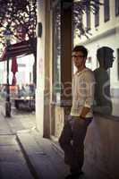 Cool young man in urban setting