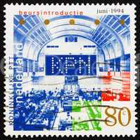 Postage stamp Netherlands 1994 Stock Exchange Floor