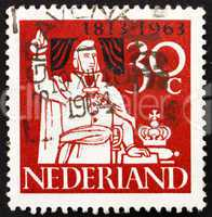 Postage stamp Netherlands 1963 Prince William of Orange