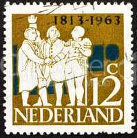 Postage stamp Netherlands 1963 Dutch Leaders