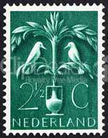 Postage stamp Netherlands 1943 Tree of Life
