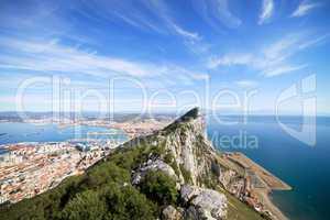 Gibraltar Rock Bay and Town