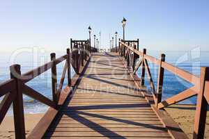 Pier on Costa del Sol in Marbella