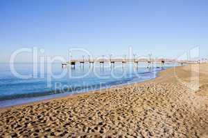 Beach Pier and Sea in Marbella