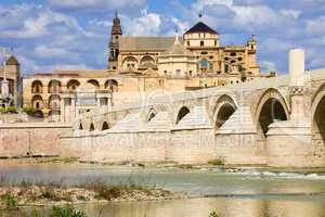 Mezquita Cathedral and Roman Bridge in Cordoba