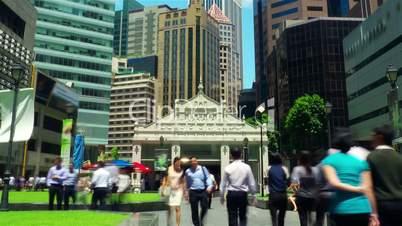 City street timelapse in motion