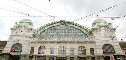 wide view of the main station of Basel, Switzerland