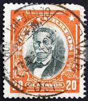 Postage stamp Chile 1911 Manuel Bulnes Prieto, President of Chil
